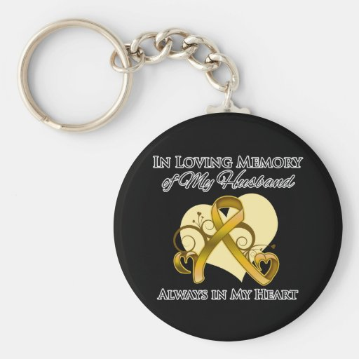 En memoria de mi marido - cáncer del apéndice llaveros personalizados