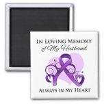 En memoria de mi marido - cáncer pancreático imán para frigorifico