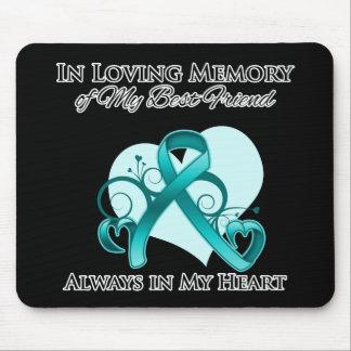 En memoria de mi mejor amigo - cáncer ovárico tapete de ratón