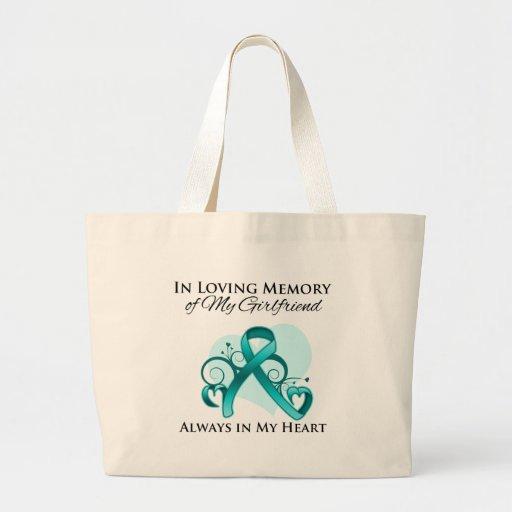 En memoria de mi novia - cáncer ovárico bolsa tela grande