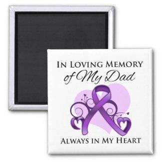 En memoria de mi papá - cáncer pancreático imán cuadrado