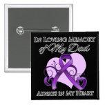 En memoria de mi papá - cáncer pancreático pins