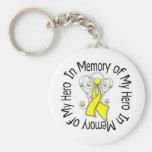 En memoria de mi prevención del suicidio del héroe llavero personalizado