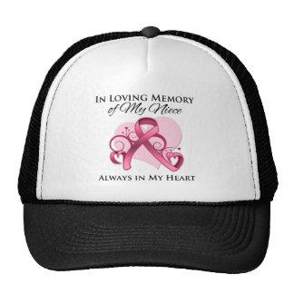 En memoria de mi sobrina - cáncer de pecho gorra