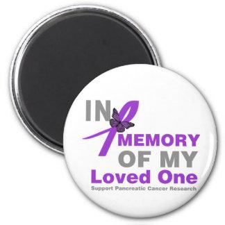 En memoria de mi un cáncer pancreático amado imán redondo 5 cm