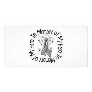 En memoria de mis alas del ángel de la diabetes de tarjeta personal