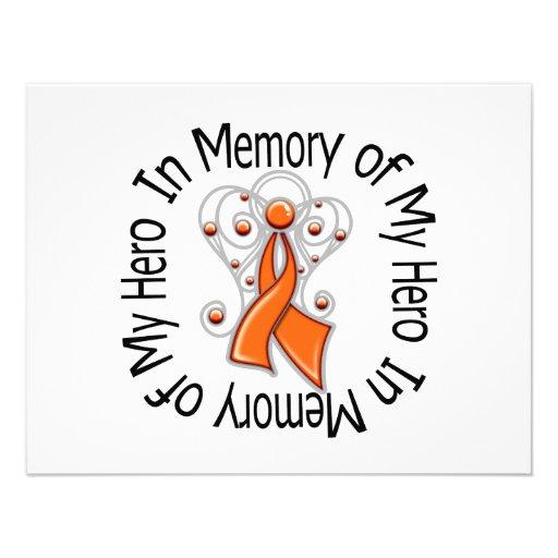 En memoria de mis alas del ángel de la leucemia de comunicado personalizado