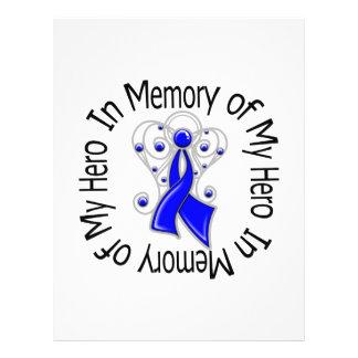 En memoria de mis alas del ángel del cáncer de col flyer personalizado