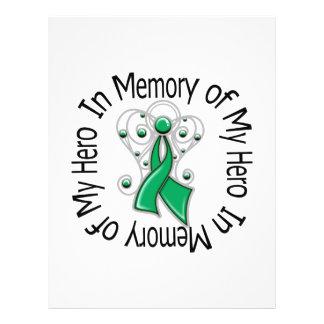 En memoria de mis alas del ángel del cáncer de híg tarjeton