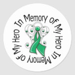 En memoria de mis alas del ángel del cáncer de híg pegatinas