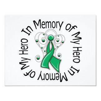 En memoria de mis alas del ángel del cáncer de invitación personalizada