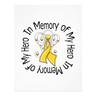 En memoria de mis alas del ángel del cáncer de la  tarjetones