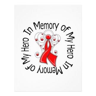 En memoria de mis alas del ángel del cáncer de san flyer personalizado