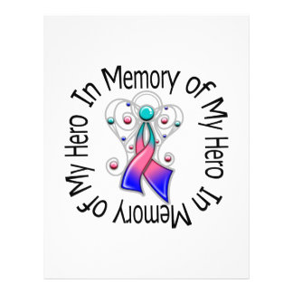 En memoria de mis alas del ángel del cáncer de tir tarjetón