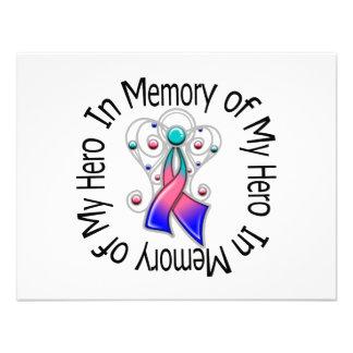 En memoria de mis alas del ángel del cáncer de tir invitación