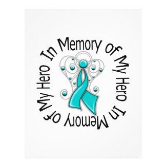 En memoria de mis alas del ángel del cáncer ováric flyer personalizado