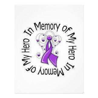 En memoria de mis alas del ángel del cáncer pancre tarjetas publicitarias