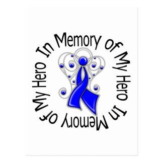 En memoria de mis alas del ángel del cáncer rectal tarjetas postales