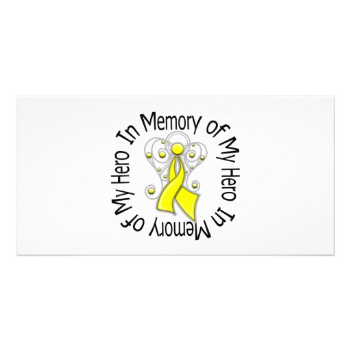 En memoria de mis alas del ángel del sarcoma del h tarjetas fotograficas personalizadas