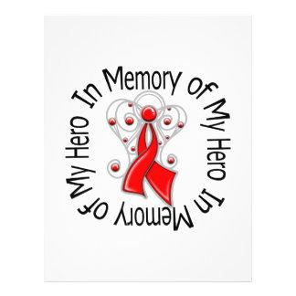 En memoria de mis alas del ángel del SIDA del héro Tarjetas Informativas