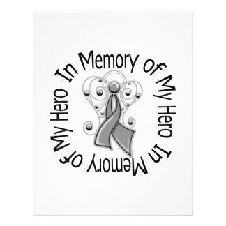 En memoria de mis alas del ángel del tumor cerebra tarjeta publicitaria