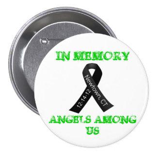 En memoria de Newtown, Ct Pin Redondo De 3 Pulgadas