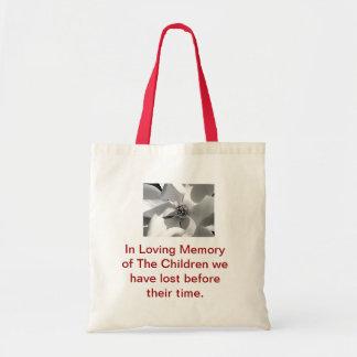 En memoria de nuestros niños puestos para descansa bolsa tela barata