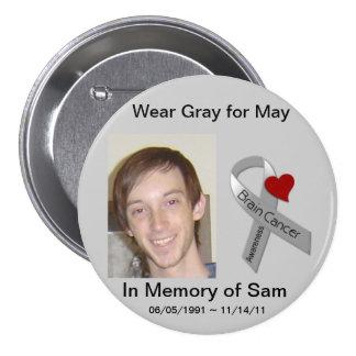 En memoria de Sam Pin Redondo De 3 Pulgadas