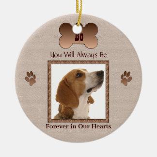 En memoria de su perro ornato