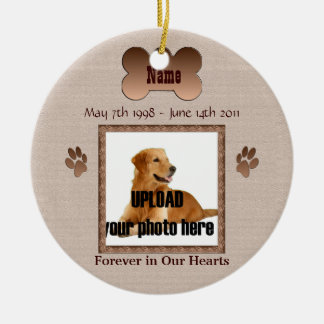En memoria de su perro ornamento para reyes magos