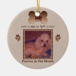 En memoria de su perro ornamentos de navidad