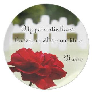 En memoria de un soldado caido platos