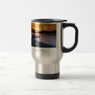 En memoria del 11 de septiembre de 2001 taza de café