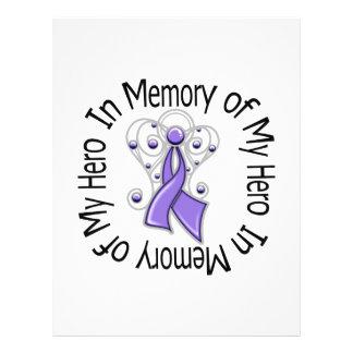 En memoria del ala del ángel del linfoma de mi Hod Tarjetas Informativas
