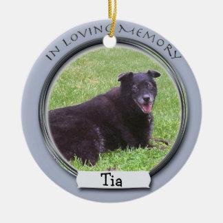 En memoria del ornamento del mascota adornos de navidad
