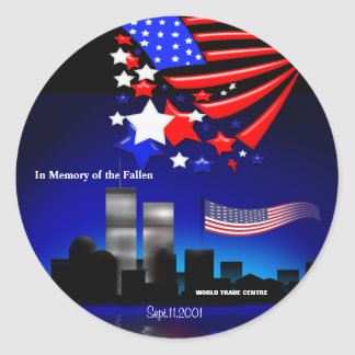 En memoria del pegatina caido del monumento de