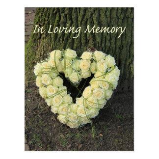 En memoria/la celebración cariñosas de la tarjetas postales