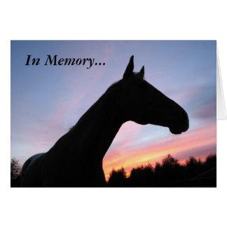 En memoria… Pérdida de un caballo, con condolencia Tarjetas