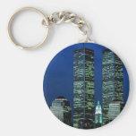 En Memoriam en memoria de las torres gemelas WTC Llavero Redondo Tipo Pin