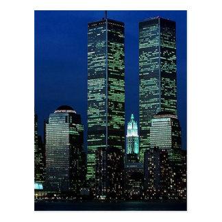 En Memoriam en memoria de las torres gemelas WTC N Tarjetas Postales