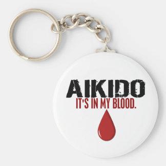 En mi AIKIDO de la sangre Llavero Redondo Tipo Pin