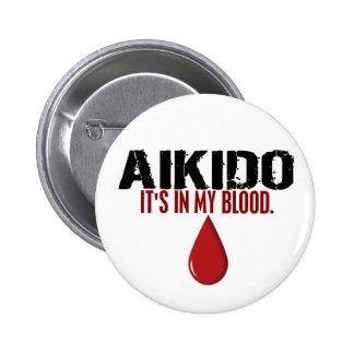 En mi AIKIDO de la sangre Pin Redondo 5 Cm