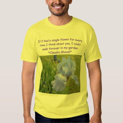 en mi camisa para hombre del jardín