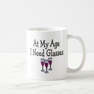 En mi edad necesito los vidrios taza