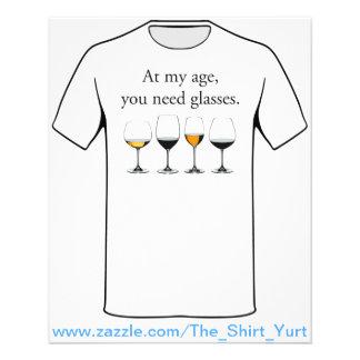 """En mi edad, usted necesita los vidrios folleto 4.5"""" x 5.6"""""""
