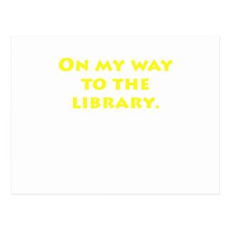 En mi manera a la biblioteca tarjeta postal