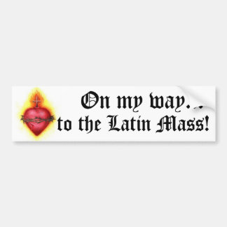 ¡En mi manera a la masa latina! Pegatina De Parachoque