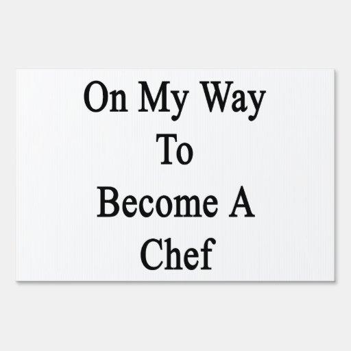 En mi manera de hacer un cocinero letrero
