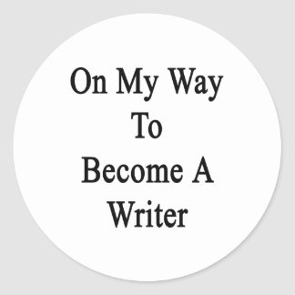 En mi manera de hacer un escritor pegatina redonda