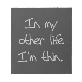 En mi otra vida soy fino libretas para notas
